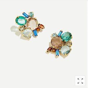 J. Crew crystal cluster earrings- NWT